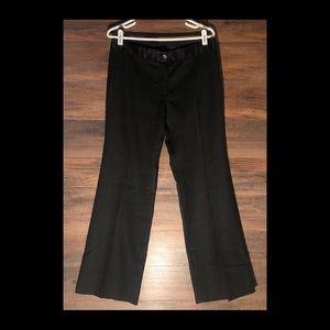 Tory Burch Black 100% Wool Wide Leg Trouser Pants